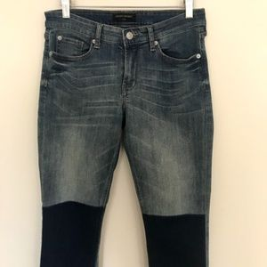 Skinny Jeans with Knee Patch Detail